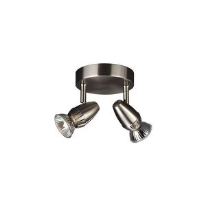 Lotus Plate/Spiral Double Spot Nickel 2x50W 230V